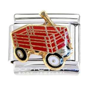 Little Red Wagon Italian Charm Jewelry