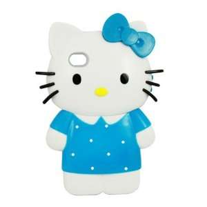 NEW HELLO KITTY 3D Doll Hard Case for iPhone 4 4S   Blue