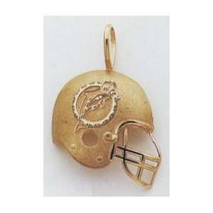 Miami Dolphins Football Helmet Charm with Logo   M967