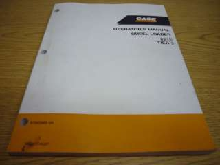 Case 621 E Wheel Loader Operators Manual