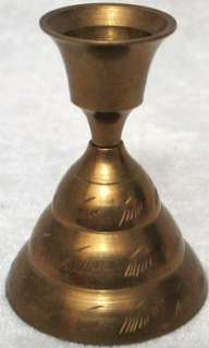 Antique Brass Bell/Candlestick Holder India Great Cond.