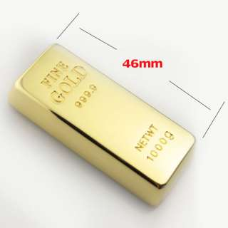 Charming Goldbar Shape 4GB/8GB/16GB USB Flash Pen Drive Memory Stick