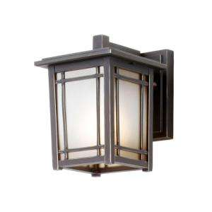 Hampton Bay Mission Hills Wall Mount 1 Light Outdoor Oil Rubbed