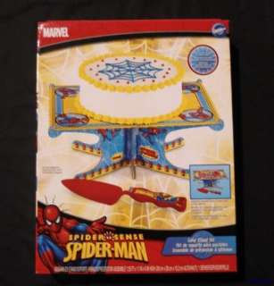 Wilton Marvel Spider Man Cake Stand W/Server NEW