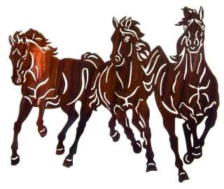 Free To Run Metal Wall Art Horse Equestrian Horse