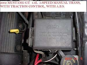 02 FORD MUSTANG FUSE BOX