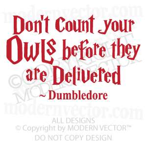 DUMBLEDORE Vinyl Wall Quote Decal HARRY POTTER decal