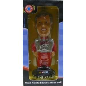 NASCAR   Bobble Dobbles   Sterling Marlin   Hand painted Bobble Head