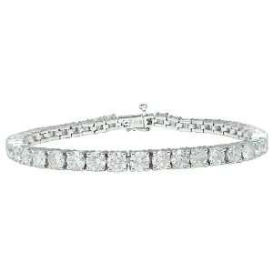 14k White Gold Diamond 4 Prong Tennis Bracelet (10 cttw, H I Color, I1