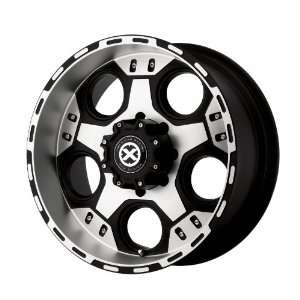 American Racing ATX Justice 17x9 Black Wheel / Rim 5x135 with a  12mm