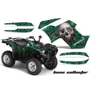 Racing Yamaha Grizzly 700 ATV Quad Graphic Kit   Bone Collector Green