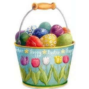 Easter Greeting Card   Easter Egg Pail Health & Personal