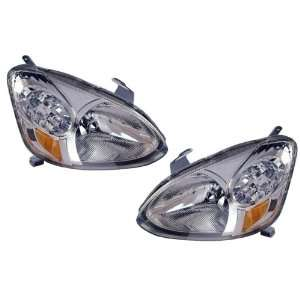 Toyota Echo Replacement Headlight Assembly   1 Pair