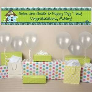 Twin Boy Puppy Dogs   Personalized Baby Shower Banner Toys & Games