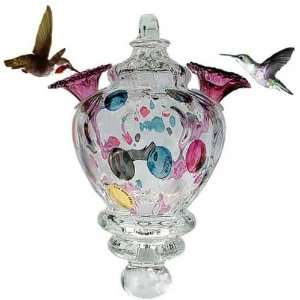 Czech Glass Hummingbird Feeder by Bird Brain Patio, Lawn & Garden