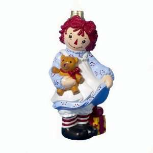 Kurt Adler 5 Inch Classic Glass Raggedy Ann with Bear