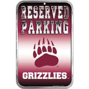 Montana Grizzlies 11 x 17 Reserved Parking Sign