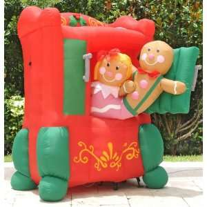 5ft Airblown Inflatable Animated Gingerbread Oven