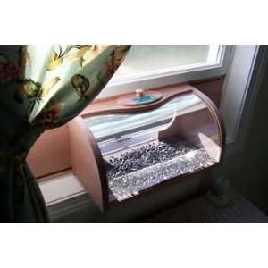 Bread Box Window Bird Feeder with Mirror Patio, Lawn