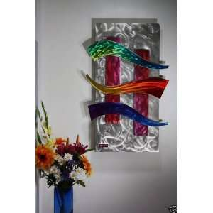 Kovacs Style Metal Wall Art Sculpture, Abstract Modern Art