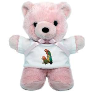Teddy Bear Pink Family of Parrots