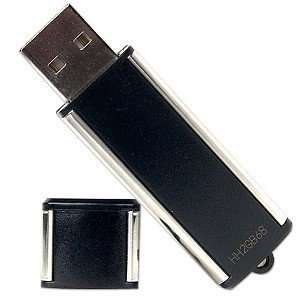 4GB USB 2.0 Portable Flash Drive (Black/Silver