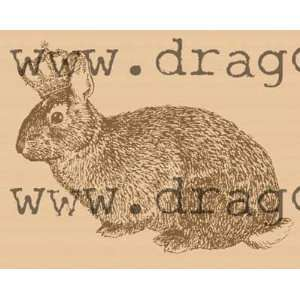 Royal rabbit rubber stamp Wood Mounted Arts, Crafts