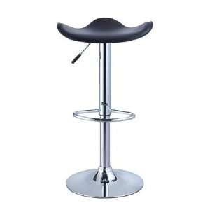 Powell 2 Piece Chrome Base Adjustable Height Bar Stool