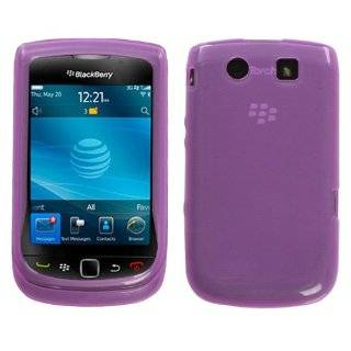 EMPIRE Blackberry Torch 9800 Hot Pink Rubberized Hard Cover Crystal