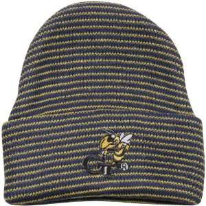 Georgia Tech Yellow Jackets Infant Navy Blue Striped Ski Knit Beanie