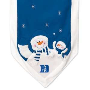 NCAA Duke Blue Devils Snowman Christmas Table Runner