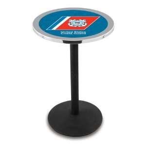 42 US Coast Guard Bar Height Pub Table   Round Base