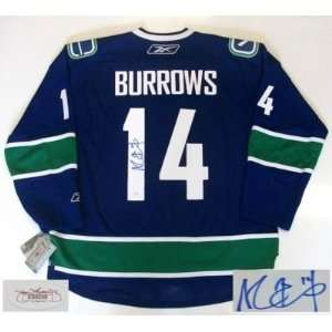 Alex Burrows Signed Vancouver Canucks Jersey Rbk Jsa