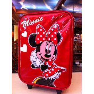Polka Dotted Minnie Mouse Rolling Luggage  Toys & Games