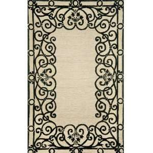 Trans Ocean 2009/48 Spello Wrought Iron Black Indoor / Outdoor Rug