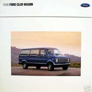 1990 Ford Club Wagon vehicle brochure