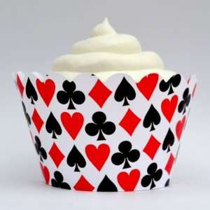Dress My Cupcake Las Vegas Casino Cupcake Wrappers, Set of 12   Liner