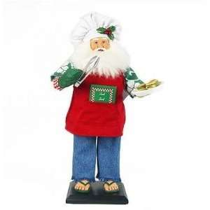 Collectible Grilling Santa Figurine Summertime Flip Flops, Hawaiian