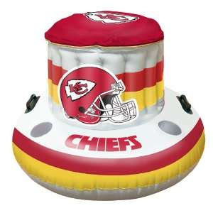 BSS   Kansas City Chiefs NFL Beach/Pool Inflaitable Floating Cooler