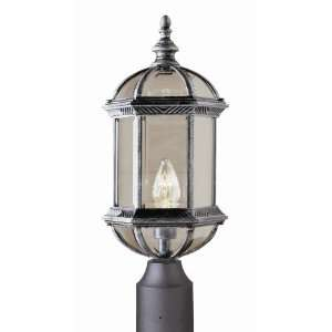Outdoor Collection Black Copper Finish 1 Lt Post Top Lantern/Seeded