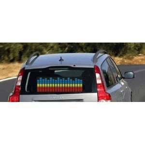 music Activated Car Stickers Equalizer Glow Yellow Light for cars