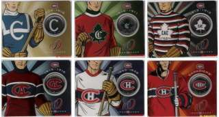 50 CENTS 1909 2009 CANADIENS COLLECTOR COIN SERIES COMPLETE SET HOCKEY