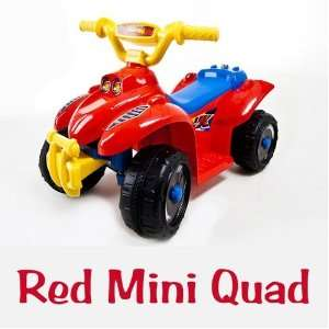 My First Quad Kids Ride on Battery Power Quad   Red 4 Wheels ATV   New