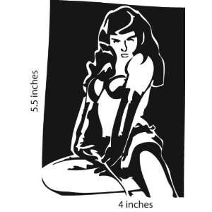 Betty Page Pinup Sticker Cut Vinyl Decal