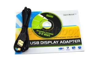 New USB to VGA/DVI/HDMI Multi Display Converter Adapter