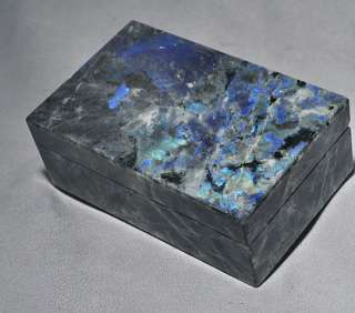 Exquisitely Crafted Labradorite Crystal Keepsake Jewelry Box