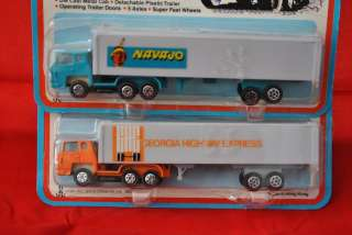 Road Champs Die Cast Metal Semi Trucks and Trailers Navajo Georgia