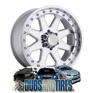 17 Inch 17x9 Black Rhino wheels Imperial Silver w/Machine