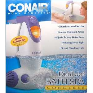 CONAIR Body Benefits CORDLESS Dual Jet BATH SPA
